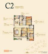 雍福龙庭3室2厅2卫143平方米户型图