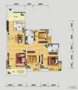 品阁3室2厅2卫117平方米户型图