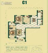 银泰逸翠园3室2厅2卫138平方米户型图