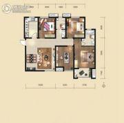 荣民宫园中央4室2厅2卫137平方米户型图