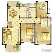 诚河新旅城3室2厅2卫135平方米户型图