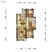 碧桂园御长白3室2厅1卫95平方米户型图