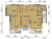 御�Z华庭3室2厅2卫112平方米户型图