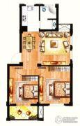 银兰公寓2室2厅1卫69平方米户型图