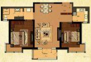 中建・御澜世家2室2厅1卫109平方米户型图