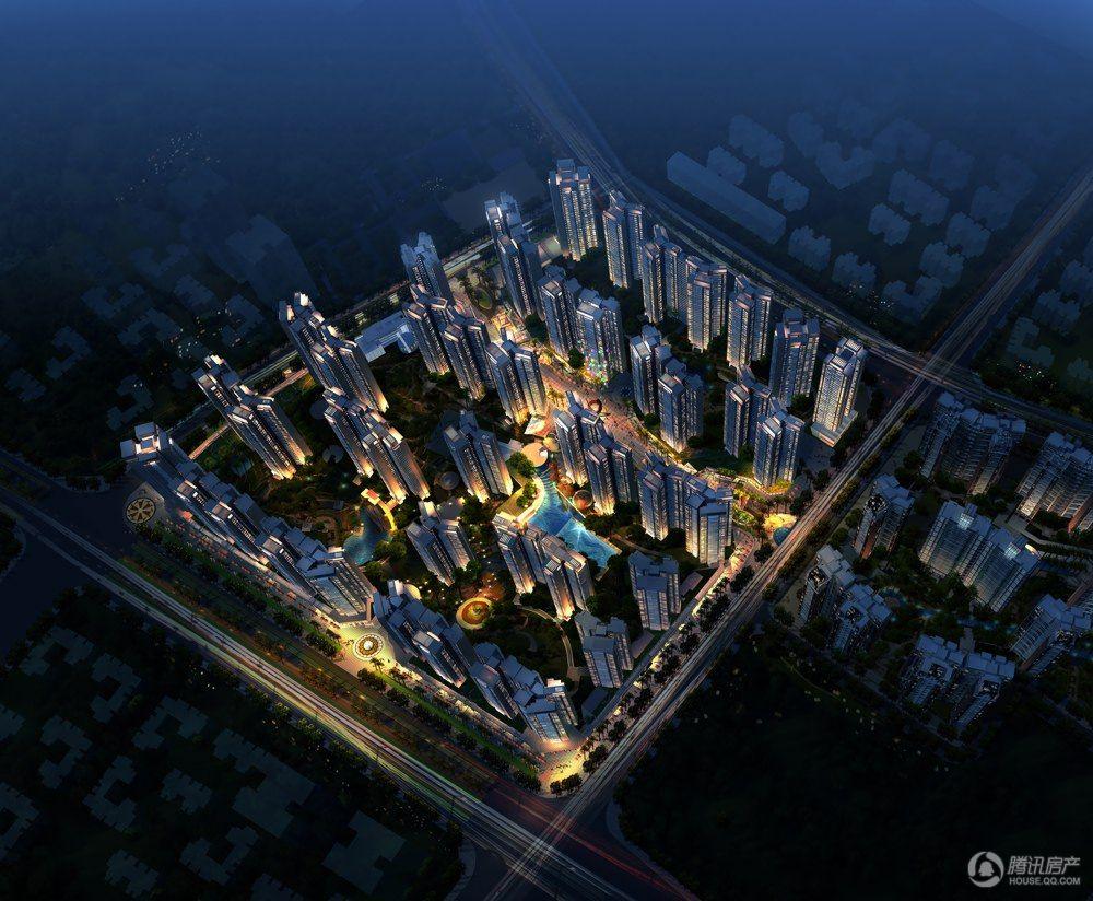西粤京基城三期鸟瞰图