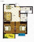 澳城苑库克船长2室2厅1卫72平方米户型图