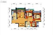 远大中央公园3室2厅1卫87平方米户型图