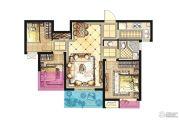 招商兰溪谷3室2厅1卫76平方米户型图