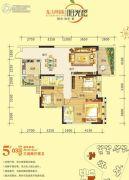 东方明珠・阳光橙3室2厅2卫125平方米户型图