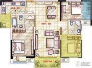 星河国际3室2厅2卫120平方米户型图