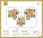 倚湖居3室2厅2卫38--83平方米户型图