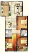 天福广场3室2厅2卫126平方米户型图