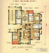 瑞鸿・中央华府4室2厅2卫143平方米户型图