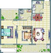 梧桐公馆2室2厅1卫86--89平方米户型图