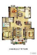 光明・中央公园3室2厅2卫130平方米户型图