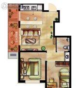 瑞家坚果2室2厅1卫72平方米户型图