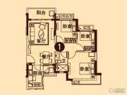无锡恒大城3室2厅1卫92平方米户型图