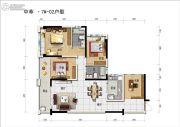 碧桂园中萃公园2室2厅2卫115--120平方米户型图