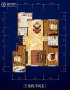 庆丰・御锦湾3室2厅2卫0平方米户型图