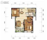 奥山世纪城3室2厅1卫92平方米户型图