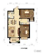 御府山海观2室2厅1卫0平方米户型图