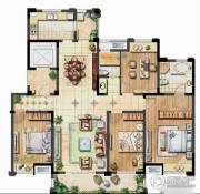 保利香槟国际4室2厅2卫167平方米户型图