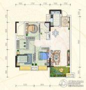 万豪・公园里3室2厅1卫102平方米户型图