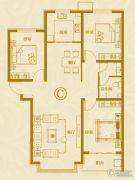 麒融国际3室2厅1卫126平方米户型图