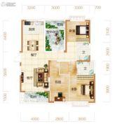 东方美地4室2厅2卫135平方米户型图