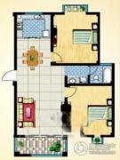 名仕佳园2室2厅1卫0平方米户型图