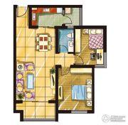 建发・观澜丽景2室2厅1卫90--100平方米户型图