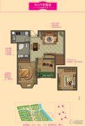 大名城2室2厅1卫67平方米户型图