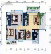 明珠花园3室2厅2卫120平方米户型图