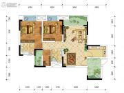 金融街融景城2室2厅2卫73平方米户型图