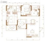 兴威朱雀门3室2厅2卫105平方米户型图