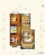 依云墅2室2厅1卫94平方米户型图