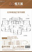 云浮恒大城108--111平方米户型图