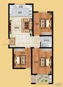 香榭丽都3室1厅1卫100平方米户型图
