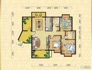 翰林华府3室2厅2卫137平方米户型图