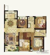 升龙天汇4室2厅2卫120平方米户型图