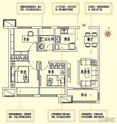 中海珑玺2室2厅1卫89平方米户型图