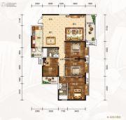 龙湾公馆4室2厅2卫160平方米户型图