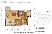 保利林语溪3室2厅2卫94--96平方米户型图