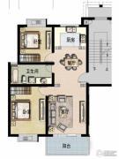 福宇凤凰华庭2室2厅1卫95平方米户型图