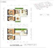 世纪公元2室2厅1卫166平方米户型图