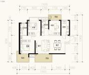 保利天禧2室2厅2卫115平方米户型图