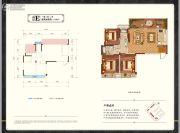 中梁・壹号院3室2厅2卫113平方米户型图