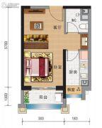 兰州碧桂园1室1厅1卫44平方米户型图