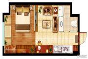 鑫苑二七鑫中心1室1厅1卫51--54平方米户型图